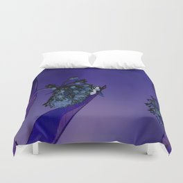 Blooming at Night (violet) Duvet Cover