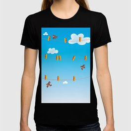 Clouds and Birds T-shirt