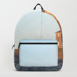 Sunset at Lighthouse in East Hampton Backpack
