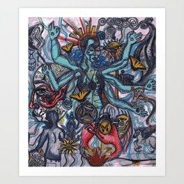 Modern Shiva Art Print