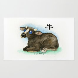 Chinese Zodiac Year of the Ox Rug