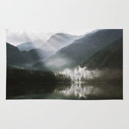 Mountains fog Rug