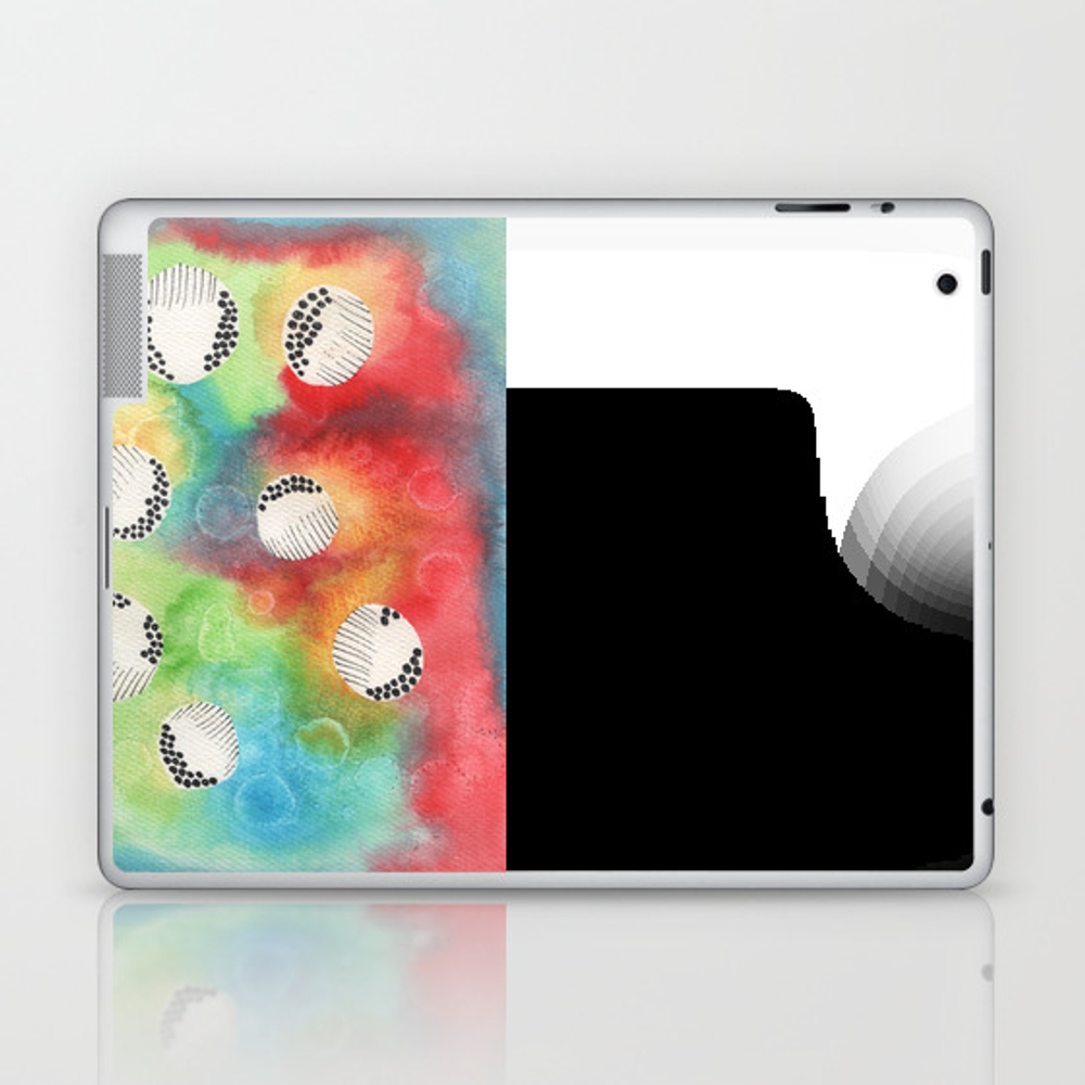 Watercolor Vibrant Abstract Painting Laptop & Ipad Skin by Kingaszumilas LSK8943922