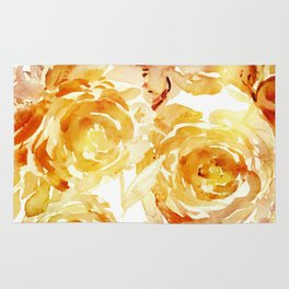 Sunny Day Painterly Floral Abstract Rug