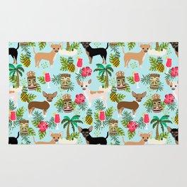 Chihuahua Tiki design - Summer tropical dog design Rug