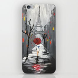 """Nuit Orageuse à Paris"" iPhone Skin"