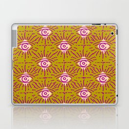 Dainty All Seeing Eye Pattern in Blush Laptop & iPad Skin