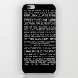 Best of the 80's  iPhone Skin
