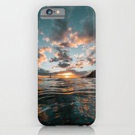 Black Rock Sunset iPhone Case