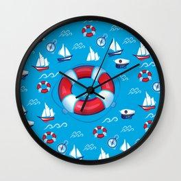 Sea Retro Pattern Wall Clock