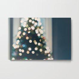 Xmas Tree Lights Metal Print