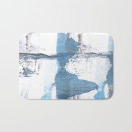 Blue hand-drawn watercolor Bath Mat