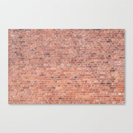 Plain Old Orange Red London Brick Wall Canvas Print