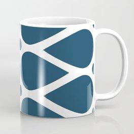 Geometric teardrop teal pattern Coffee Mug