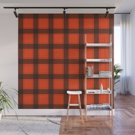 Classic Red Plaid Wall Mural