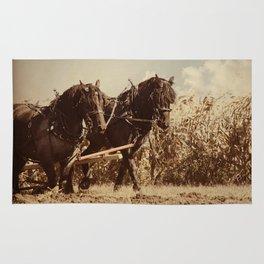 Plow Horses Rug