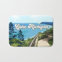 Lake Michigan Retro Bath Mat