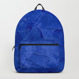 Dark Blue Ombre Burnished Stucco - Faux Finishes - Venetian Plaster Backpack