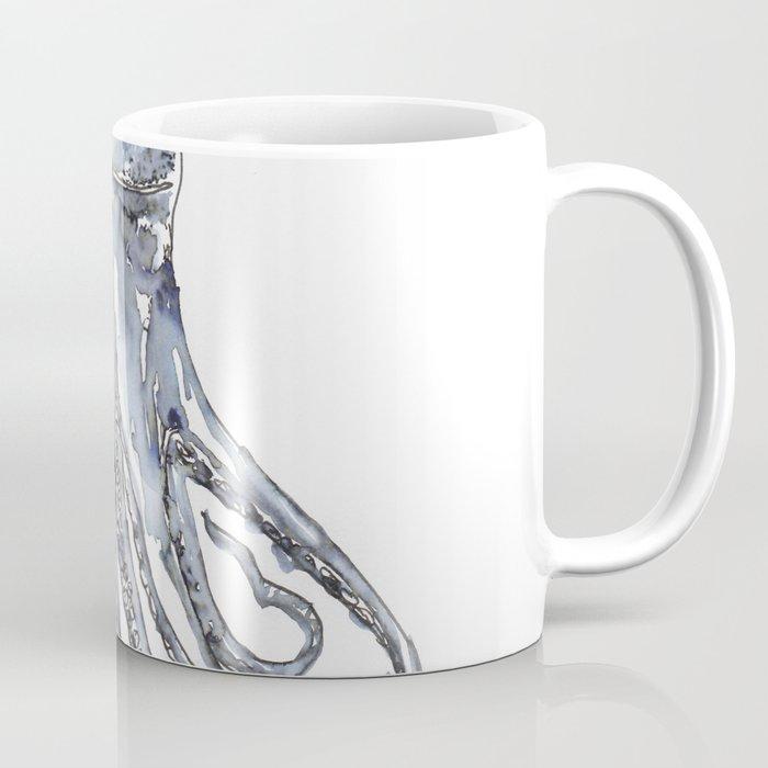 Octopus Watercolor Sketch Coffee Mug
