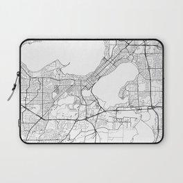 Madison Map White Laptop Sleeve