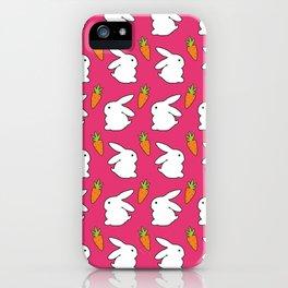 Rabbit & Carrot iPhone Case