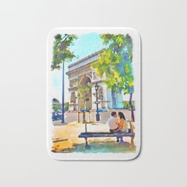 The Arc de Triomphe Paris Bath Mat