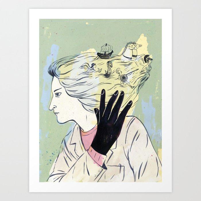 """Consciousness Began When the Gods Stopped Speaking"" by Carmen Segovia for Nautilus Art Print"