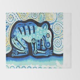 Blue Jaguar posterized Throw Blanket