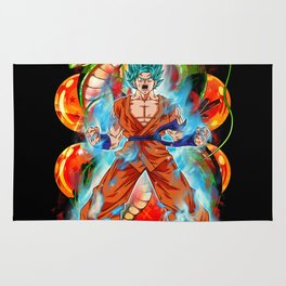Goku Kaio-Ken Blue Rug