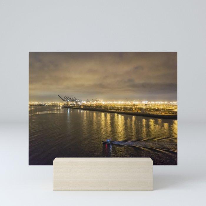 Port of Los Angeles at Dawn Mini Art Print