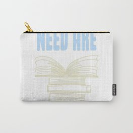 All you really need are BOOKS CATS Carry-All Pouch
