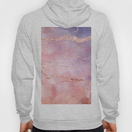 Blush and Purple Sky with Rose gold flashes Hoody