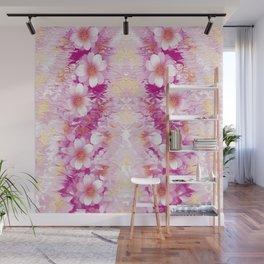 Blumenmuster pink Wall Mural