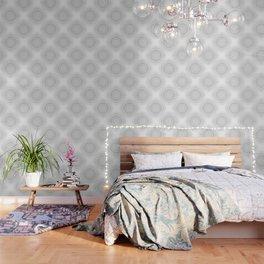 Gray White Mandala Wallpaper