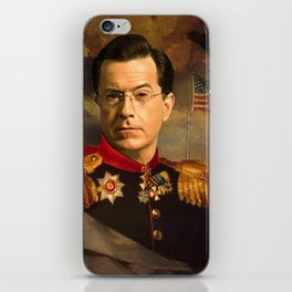 Stephen Colbert 19th Century Classical Painting iPhone Skin