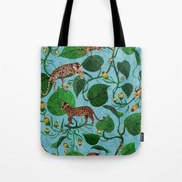 Lazy Leopard Jungle Tote Bag