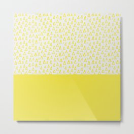Triangles yellow Metal Print