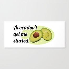 Avocadon't (White) Canvas Print