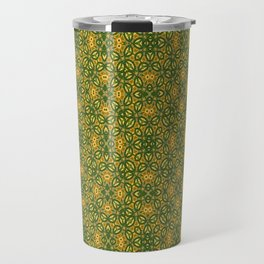 green poppy field Travel Mug