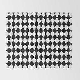 Diamonds (Black/White) Throw Blanket
