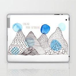 Flying high through the mountains Laptop & iPad Skin
