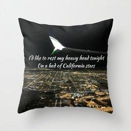 California Stars Throw Pillow