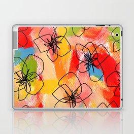 Hibiscus Family #1 - hibiscus illustration flower pattern floral painting nursery room decor Hawaii Laptop & iPad Skin