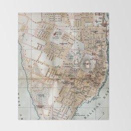Vintage Map of Halifax Nova Scotia (1890) Throw Blanket