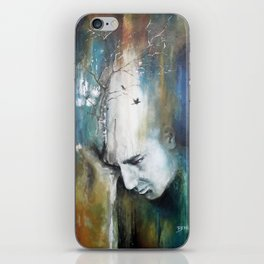 Des corbeaux dans la tête iPhone Skin