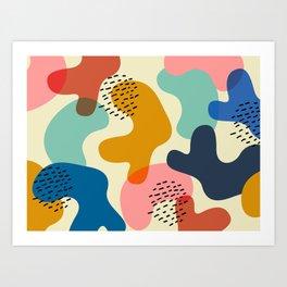 Camouflage Chic Art Print