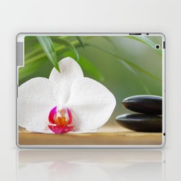 Relax with orchid flower and hot stones Laptop & iPad Skin