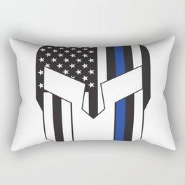 Gladiator Helmet American Flag Thin Blue Line Rectangular Pillow