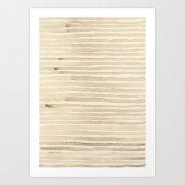 ARTICHOKE'S STRIPES Art Print