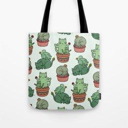 Cacti Cat pattern Tote Bag
